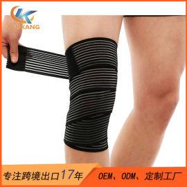 涤纶绑带加压运动护膝带运动护具厂家