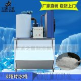 深圳冰之星3吨果蔬海鲜保鲜冷藏商用小型片冰机