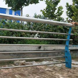 西安不锈钢复合管护栏 陕西高架桥梁防撞护栏