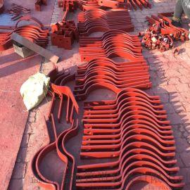 管道固定  立管管夹 钢制扁钢管夹 焊制腿式支座
