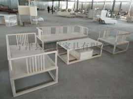 厂家直销美硕新中式沙发组合实木客厅家具