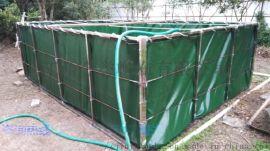 江西金誉帆布定做养殖帆布水池 帆布鱼池 篷布养鱼池 ,pvc防水帆布池