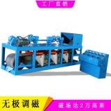 鎢錫礦電選分離三盤帶式磁選機 幹式皮帶電磁強磁機