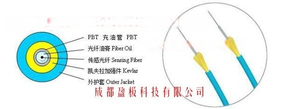 盈极光电非金属充油管型测温光缆 单芯测温光缆