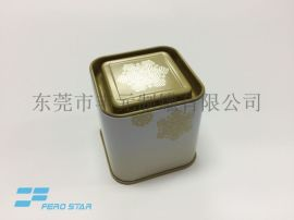 精致茶叶小方罐,马口铁礼品罐,铁盒包装厂家