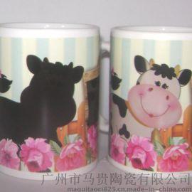 创意陶瓷变色杯 卡通陶瓷广告杯订制