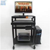 晶固JG98-13电脑显示器移动推车投影仪器推车教学机房移动推车带键盘主机