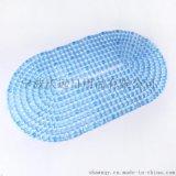 浴室防滑墊 橢圓鑽石透明PVC防滑墊