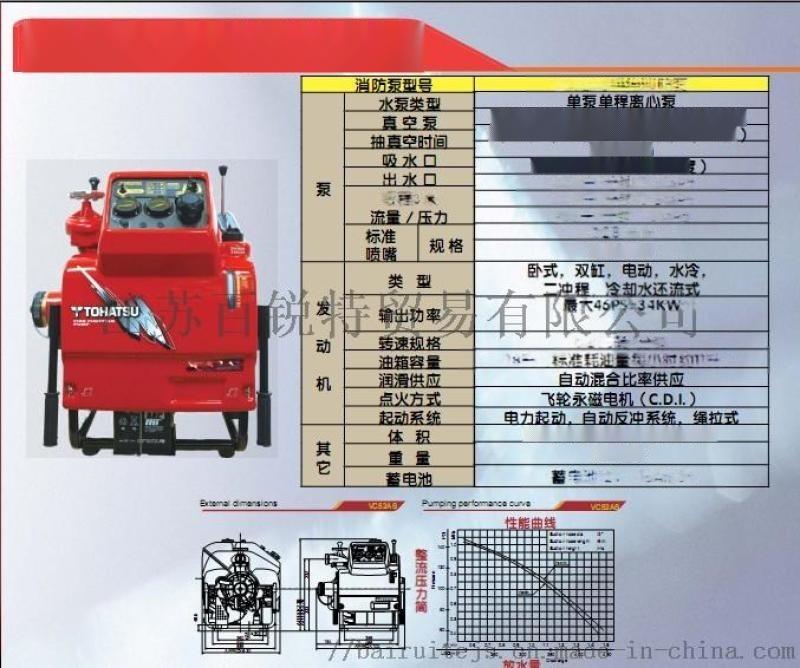 东发VC52ASEEXJIS手抬机动消防泵VC52
