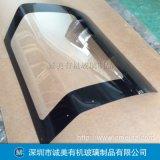 亚克力弧形设备门盖 有机玻璃仪器掀门 机械运作视窗