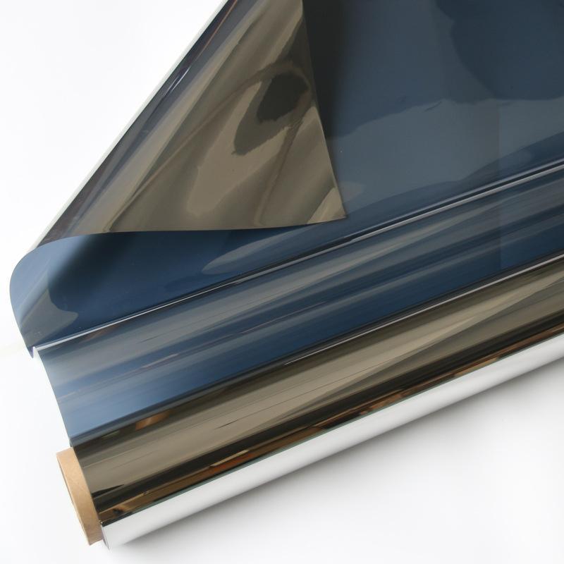 销售阳光房玻璃隔热膜防晒膜深铂色镜面单向隔热膜
