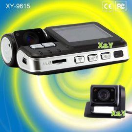 前后双镜头高清行车记录仪 车载SD卡录像机