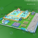 廣州海蘭藍大型定製移動泳池水上樂園設備