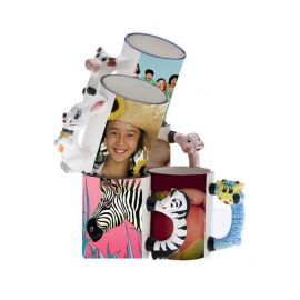 艾吉儿个性定制生肖动物杯来图定制厂家直销