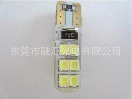 T10 2835 12SMD灯 水晶灯硅胶防水 转向灯LED芯片 超亮 厂家直销