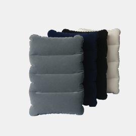 植绒方形午睡充气枕 户外露营靠垫 植绒便携旅行充气枕头批发
