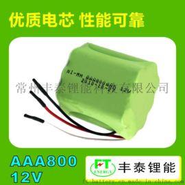 AAA 800mAh 12V可充电池PACK