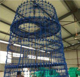 大型游乐场攀爬网 游乐设施防护网 尼龙绳攀爬网 圆筒状儿童攀爬网笼