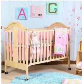 贝安诺环保婴儿床童床盖亚130白木实木0甲醛无漆木蜡油工艺