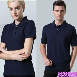 批发高端全棉莱卡棉polo衫 新款纯棉体恤 纯色经理时尚短袖t恤衫