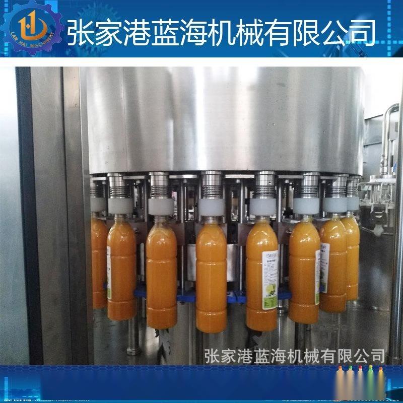 三合一液体灌装机 果汁罐装设备 饮料生产线厂家