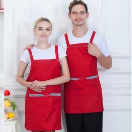 韩版时尚男女厨房西餐厅咖啡店围裙厨师服务员工作服围裙定制logo