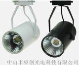 背景牆軌道射燈,10W黑筒軌道燈