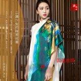 100%桑蚕丝丝巾定制加工工厂中高端产品