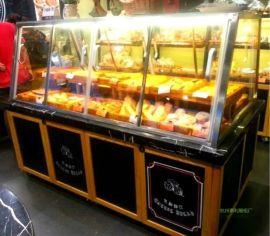 杭州惠利展柜厂供应不锈钢精品蛋糕面包展示柜,面包展示架