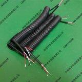 2芯螺旋弹簧电缆广东深圳东莞0.3平方0.5平方弹簧曲线