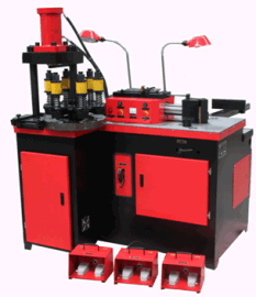 KSW303D直线式折弯三工位液压母线加工机