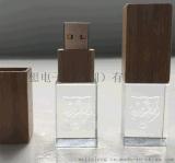 水晶竹木16GB 個性創意木頭 竹子U盤 水晶U盤 定製LOGO禮品U盤
