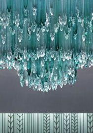 宴会厅大型水晶玻璃吊灯大堂烤弯艺术玻璃灯饰会所售楼部工程灯具 举报