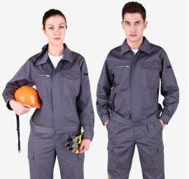 定做全棉工作服,白云区订制双层夹克工作服,人和工厂厂服定做