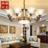歐式吊燈简欧锌合金仿铜客厅吊燈美式别墅复式楼复古大气餐厅卧室灯具