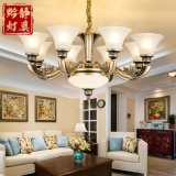 歐式吊燈簡歐鋅合金仿銅客廳吊燈美式別墅復式樓復古大氣餐廳臥室燈具