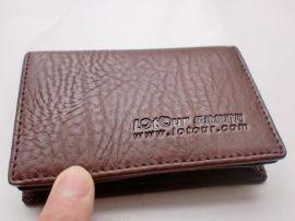 厂家定制旅游网名片夹赠品 男士真皮名片包订做礼品FL417