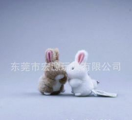 毛絨玩具廠供毛絨兔子玩具 節日咪兔 兒童玩具 灰色長耳朵毛兔