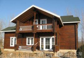 木结构房屋设计建造木凉亭木别墅