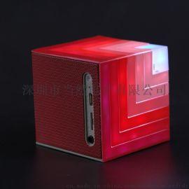 新款LED七彩灯彩虹魔方无线蓝牙 插卡音箱 电脑音箱