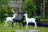 玻璃鋼梅花鹿立體幾何雕塑廣場園林景觀工藝品擺件不鏽鋼雕塑