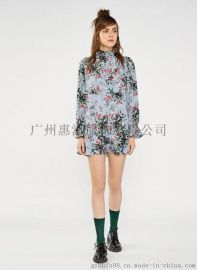 地素女装品牌库存尾货批发 广州 地素18夏装连衣裙尾货走份