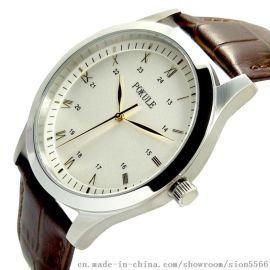 POKULE XJK1802A 棕色带男装石英手表