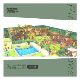 海盗主题淘气堡 小朋友们超喜欢的室内游乐园项目