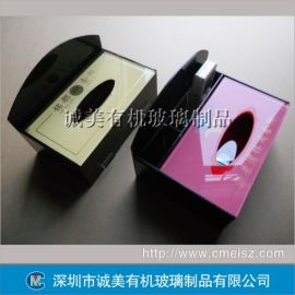 亚克力多功能纸巾盒 有机玻璃抽纸盒 酒店会所订制盒