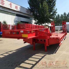 工程机械拖板3轴低平板半挂车价格尺寸及图片