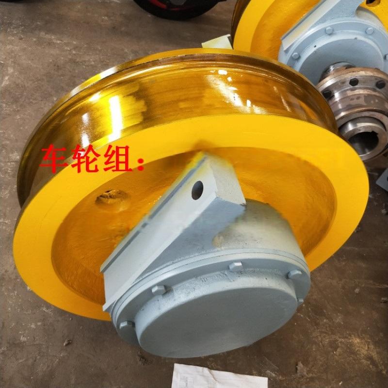 φ500*130电动平车车轮组 铸钢整体调质轮
