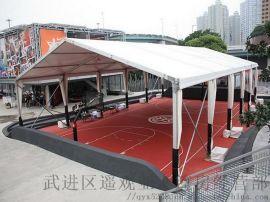 南京楼顶篮球馆篷房,  户外羽毛球馆篷房厂家