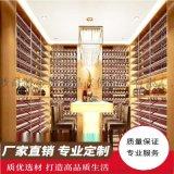 別墅酒窖 復古酒櫃 紅酒櫃檯 地下室整體酒窖定製