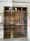 隱形拉絲不鏽鋼紅酒櫃 拉絲玫瑰金酒櫃定製 恆溫酒櫃